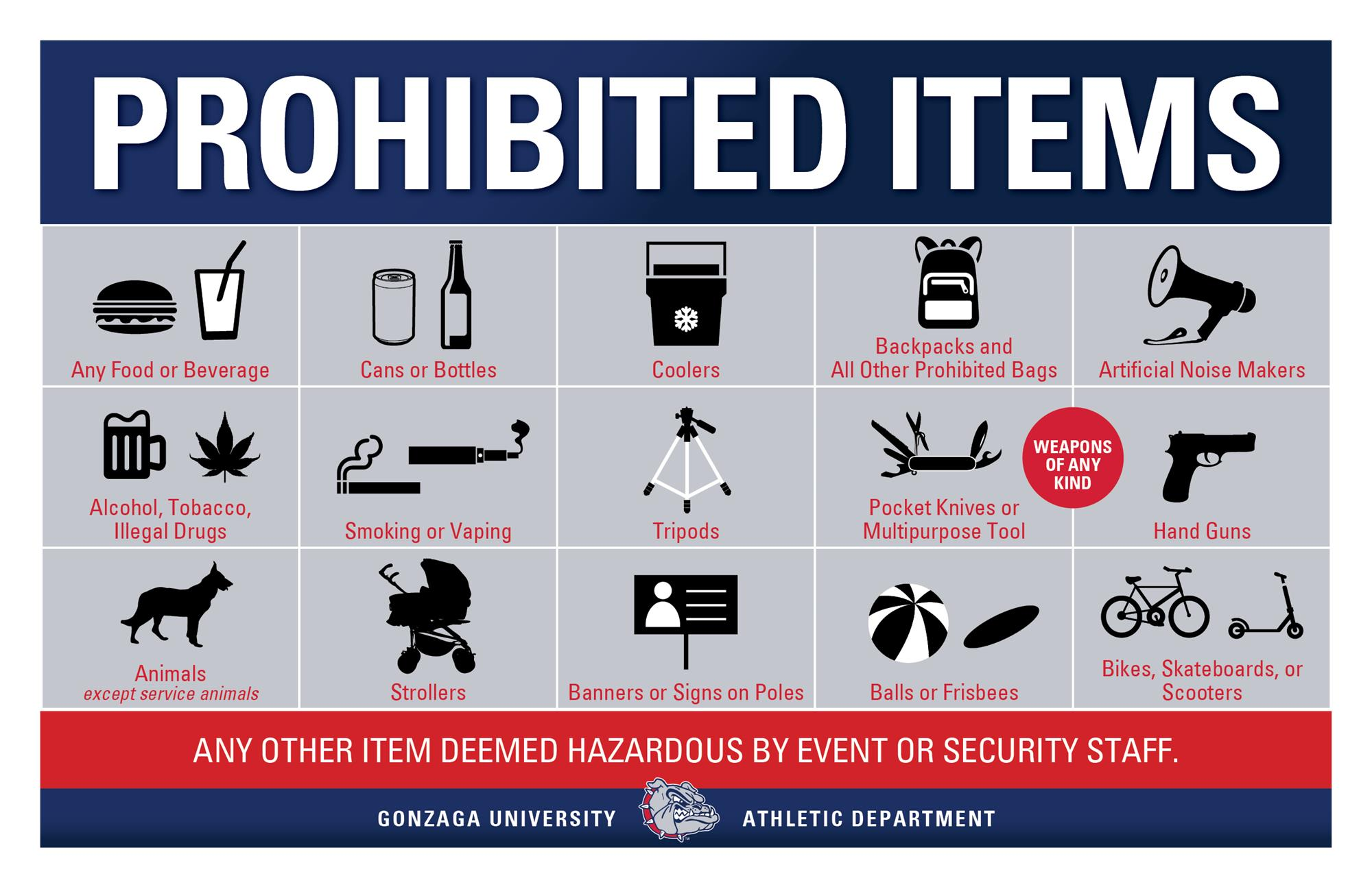 Men's and Women's Basketball Game Day Information - Gonzaga