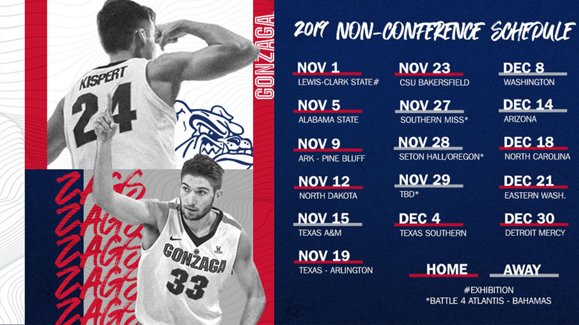 Men S Basketball Releases Non Conference Schedule Gonzaga
